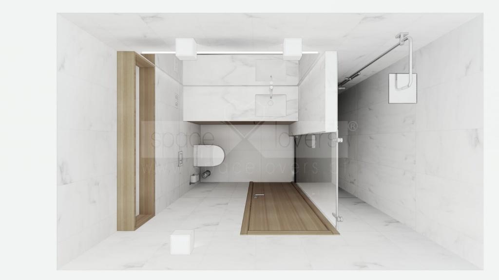 Remodelação de Apartamento em Alvalade em Lisboa. Casa de banho dos quartos _ spacelovers