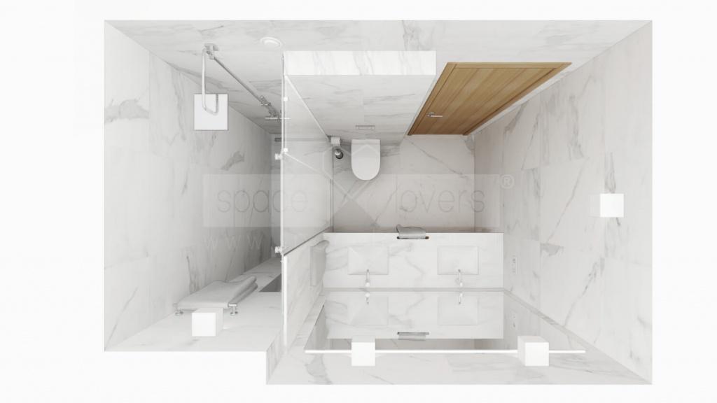 Remodelação de Apartamento em Alvalade em Lisboa. Casa de banho suite _ spacelovers