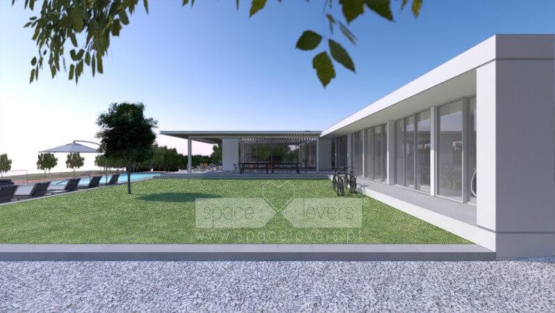 Casa em Santiago do Cacém. 3D do Projeto de Arquitetura.