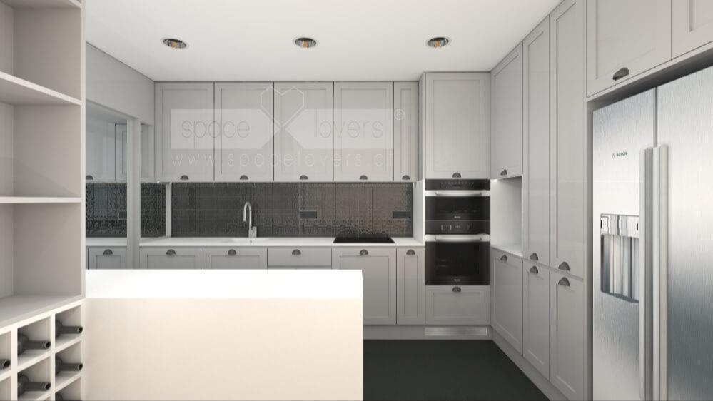 3D de Cozinha da remodelação de apartamento em Oeiras